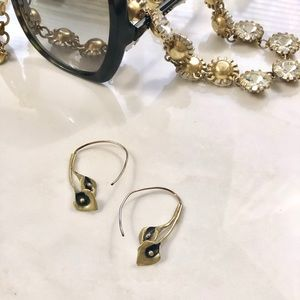 Vintage Calla Lily Brass Earrings